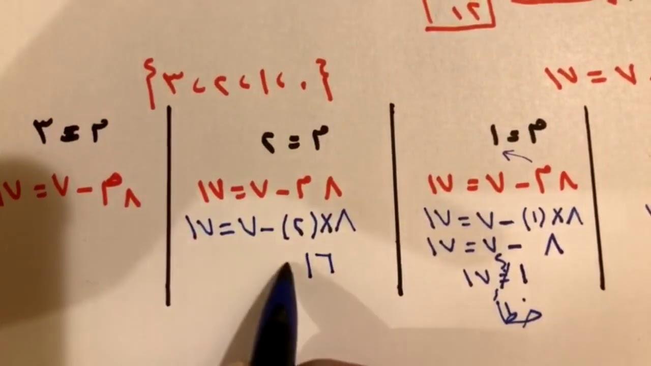 المعادلات الجزء الأول للصف الثالث متوسط الفصل الدراسي الأول Youtube