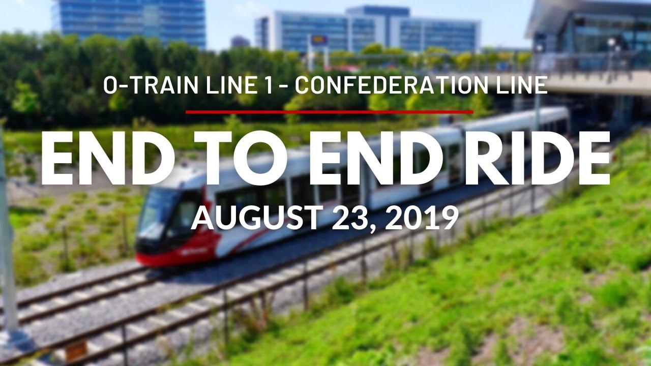 Confederation Line continuous ride / La ligne de la Confédération en continu