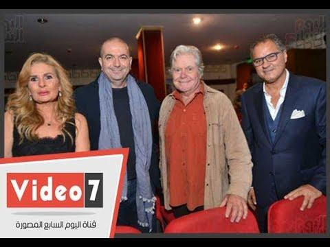 يسرا وحسين فهمى وكندة علوش فى العرض الخاص لفيلم -الجبل بيننا-  - 23:21-2017 / 11 / 22