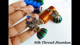 Making Silk Thread Jhumkas||Silk Thread Designer Jhumkas (Tutorial)