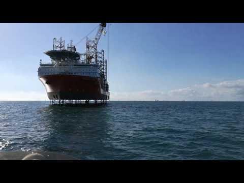 Wind Farm installation Brighton coast