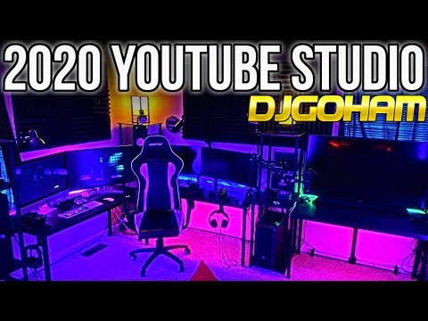 DJGOHAM YOUTUBE STUDIO TOUR 2020! (2x PCs, iMac 5k, XB1-X, PS4 Pro)