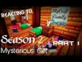 Reacting to|Mysterious Gift|MyCraft Family Minecraft Survival|Part 1~ Season 2 ヾ(@^∇^@)ノ