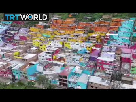 Colombia Houses: Neighbourhood plagued by gang violence transforms itself with art