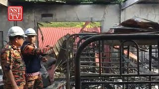 Male dorm razed by fire, no casualties reported