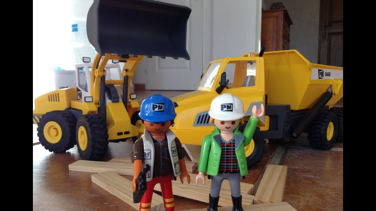 Playmobil Chantier Travaux City Action Youtube
