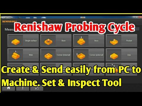 Create Renishaw Probing Cycles on PC and send to CNC machine Via LAN by CNC  PROGRAMMING