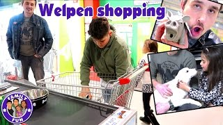 WELPENSHOPPING FÜR PUPPY KIRA VLOG #70 Our life FAMILY FUN