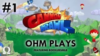 """Ohm Plays """"Cannon Brawl"""" #1 Ft. RockleeSmile - PC / Steam"""