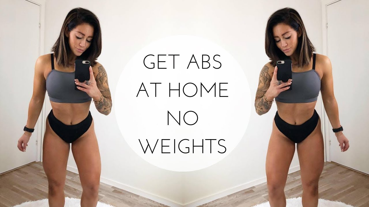 ABS AT HOME WORKOUT: TOP 10 EXERCISES (NO WEIGHTS NEEDED!)