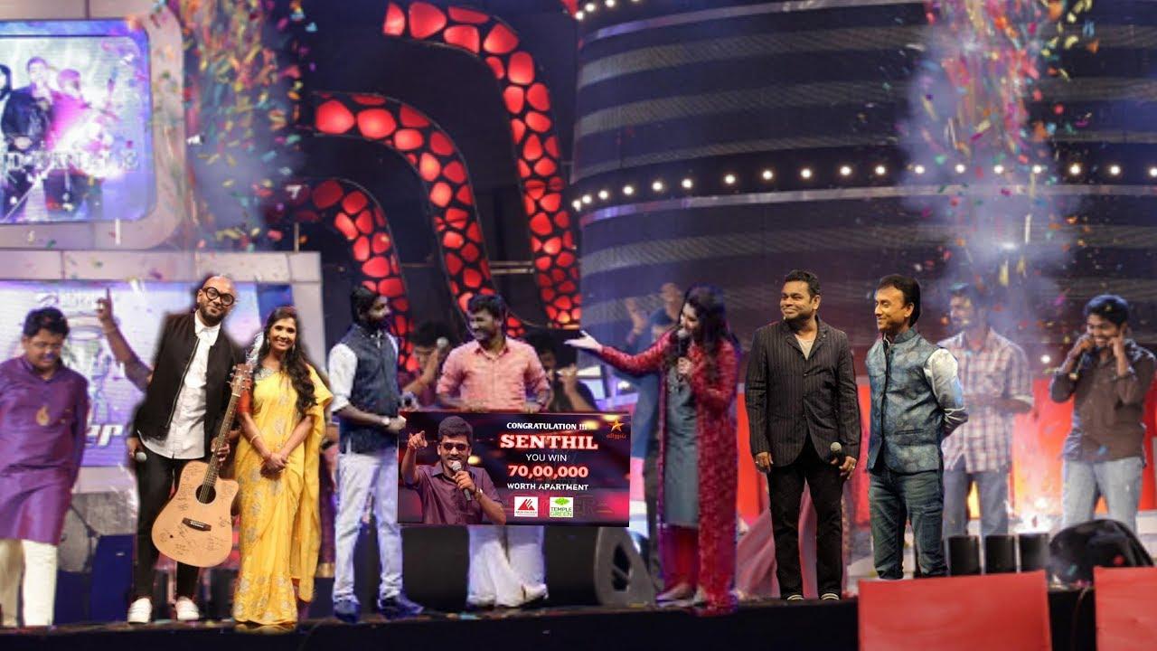 Super Singer 6 Grand Finale Le Winner Senthil Ganesh Vijay Tv