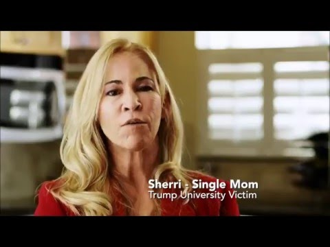 Trump University Mega Fraudulent Scam, Victims speak out against the fraud committed by Trump