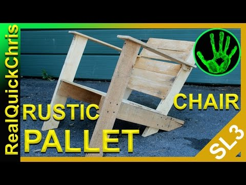Rustic Pallet Chair an Easy DIY pallet wood project and furniture
