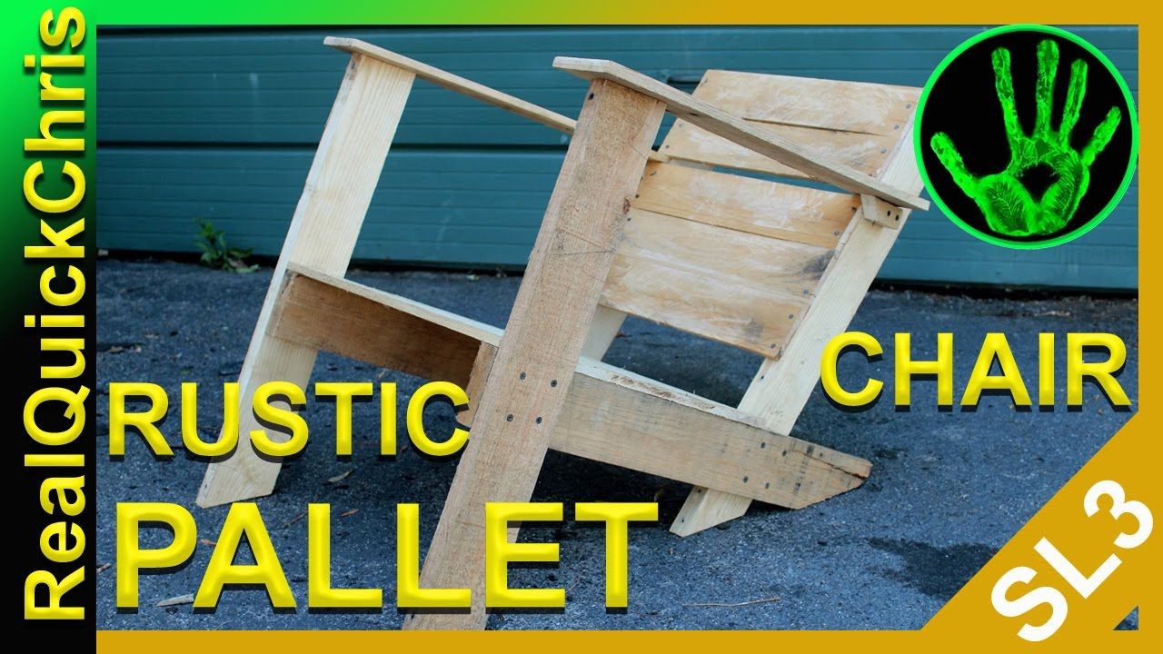How To Make A Rustic Pallet Chair   YouTube