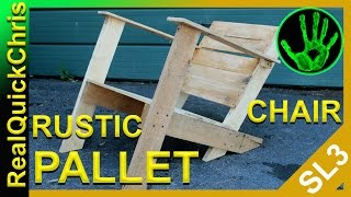 Rustic Pallet Chair