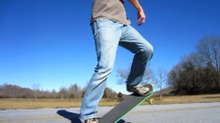 Old Dude Skateboarding in the Country - Not a Crime!
