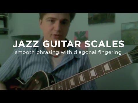 Jazz Guitar Scales: Diagonal Fingerings Lesson - how Jazz scales really fit the guitar