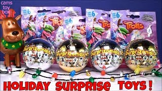 Holiday Edition Surprizamals Dreamworks Trolls Blind Bags Opening Surprise Toys Kids Fun