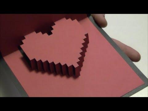 Vero Vi  TARJETA DE CORAZON EN 3D   YouTube