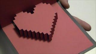 Vero Vi 💋 TARJETA DE CORAZON EN 3D 💜