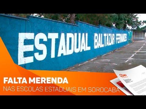 Falta merenda nas escolas estaduais em Sorocaba - TV SOROCABA/SBT