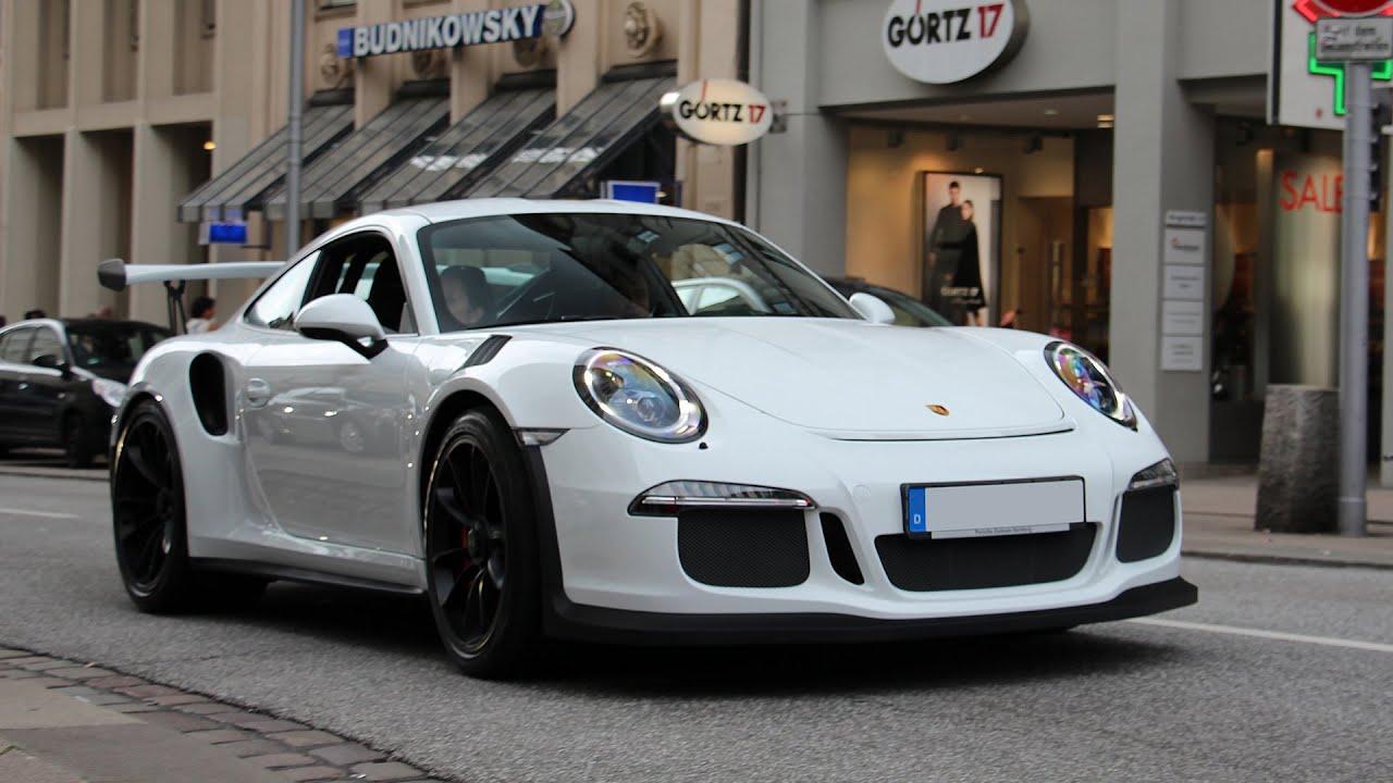 Porsche 991 GT3 RS  REVS & driving scenes in Hamburg