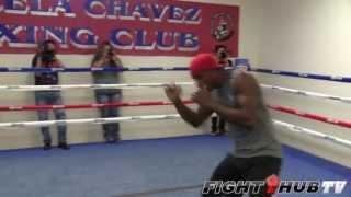 Erislandy Lara Vs. Alfredo Angulo- Lara Light Shadow Boxing