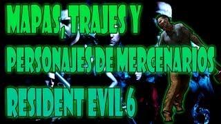 Mapas, Trajes y Personajes de Mercenarios - Resident Evil 6