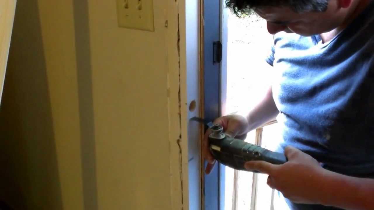 how to fix a damaged door frame youtube