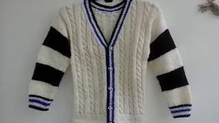 91. Детский жакет спицами. / Children's jacket knitting.