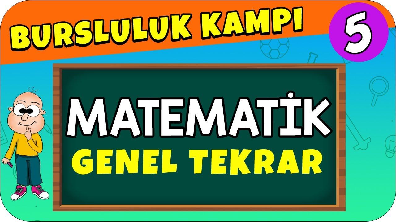5.Sınıf Matematik   Bursluluk Sınavı Genel Tekrar