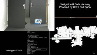 SLAM, Navigation and Path planning using URBI and Karto with a wifibot robot