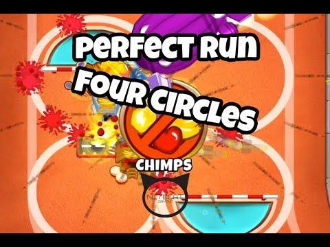 Bloons TD6 Four Circles CHIMPS Mode Perfect Run