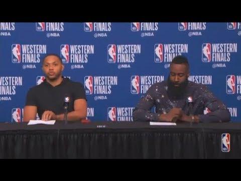 Eric Gordon and James Harden Postgame Interview | Warriors vs Rockets Game 5