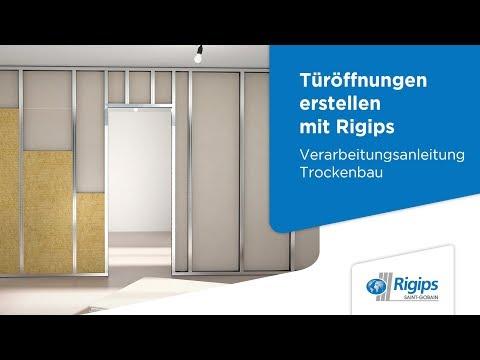 Relativ Grundlagen für die Erstellung von Türöffnungen mit Rigips SW78