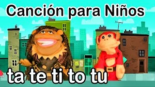 Canción ta te ti to tu - El Mono Sílabo - Videos Infantiles - Educación para Niños #