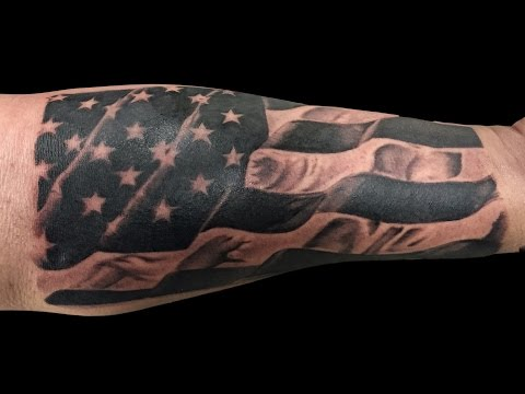 Dinamik Tattoo - Albert Padron - Time Lapse American Flag