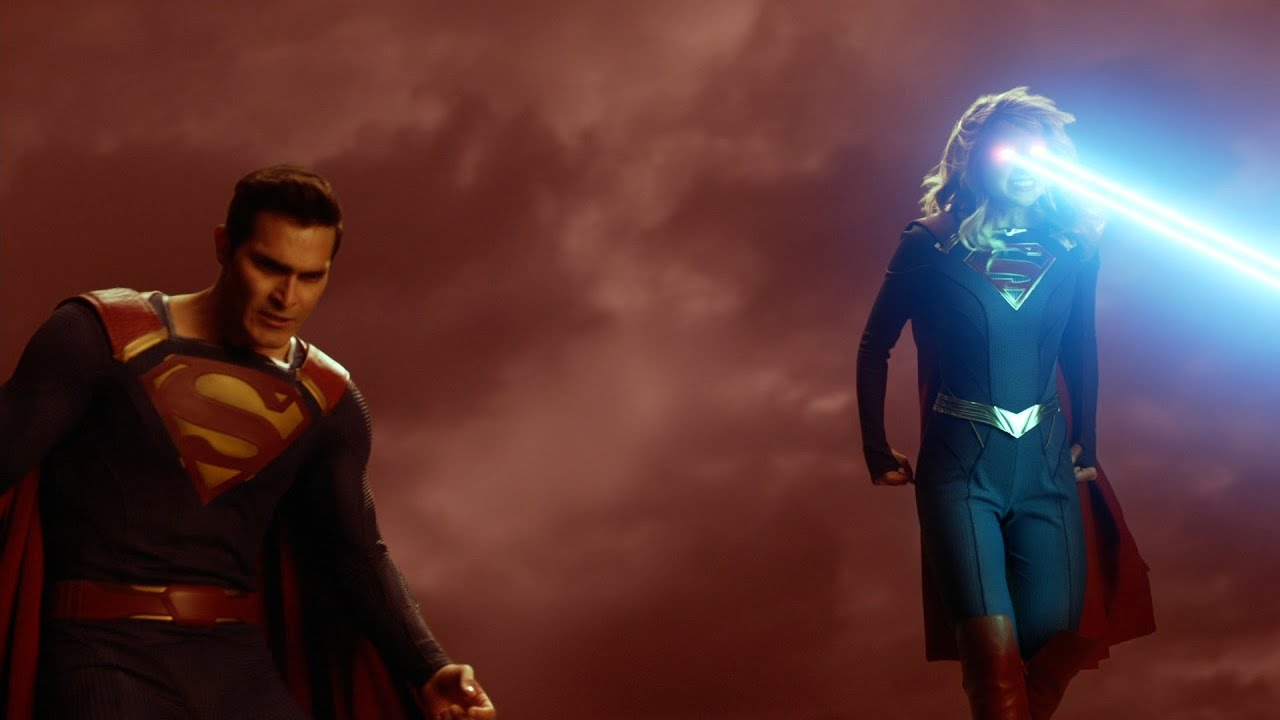 Download Supergirl 5x09 Crisis part1 super heroes fight scene Lena , alex