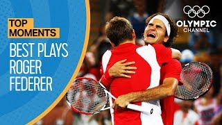 roger federers best points at olympic games top moments