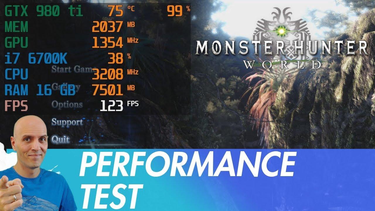 MONSTER HUNTER WORLD PC Performance Test 60fps / low, mid, high, highest,  Volume Rendering Quality