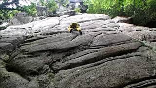 脊振山系・みはらし岩・ルート3下部