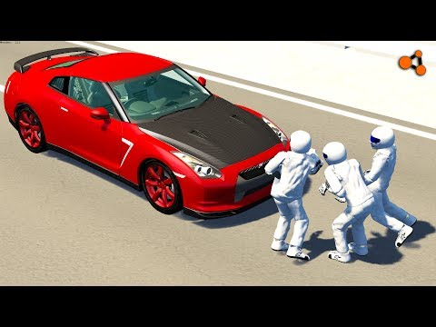 Beamng drive - Stig Ragdoll Crashes Testing (stiggy crash testing)