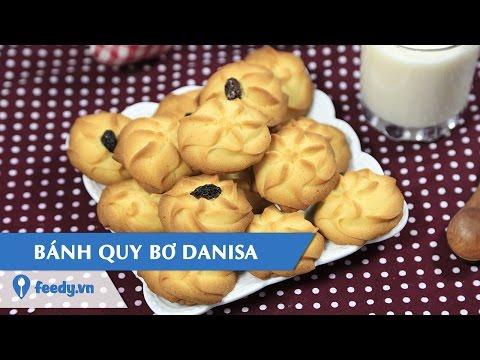 Hướng dẫn cách làm bánh quy bơ - butter cookies với #feedy