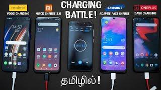 Realme 3 Pro Vs Redmi Note 7 Pro Vs Samsung Galaxy M30 Vs OnePlus 6 - Charging Battle in Tamil!