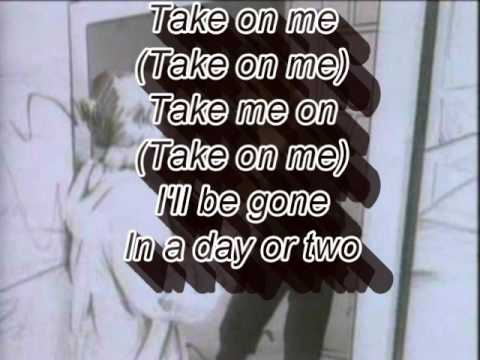 A-Ha Take on Me - Lyrics