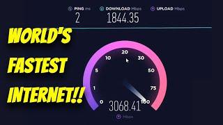 World's fastest internet Speed Test! record ookla Gigabyte internet screenshot 1