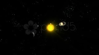 149792 Circling Solar System With Zoom To Sun Hd 1080 stock footage