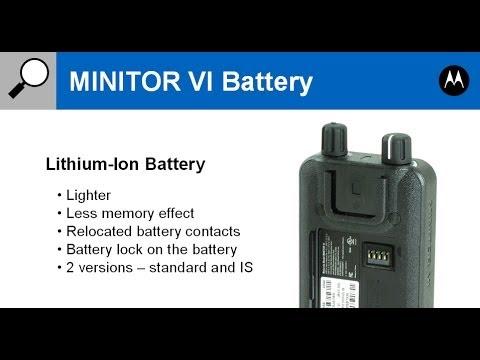 Motorola Minitor Vi 6 Battery Pack Youtube