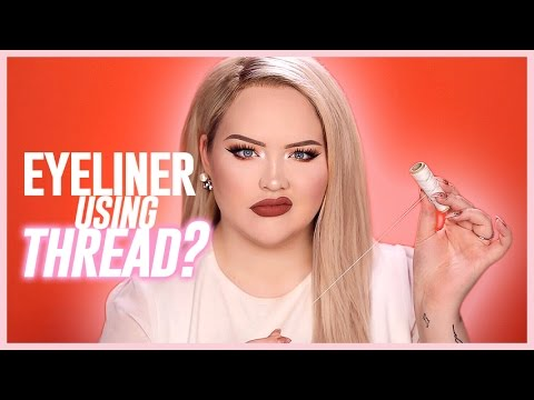 Thumbnail: PERFECT LINER USING THREAD?? | NikkieTutorials