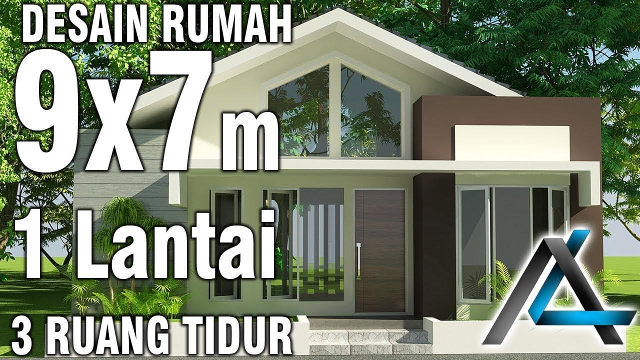 Desain Rumah 9x7 Meter 1lantai 3 Kamar